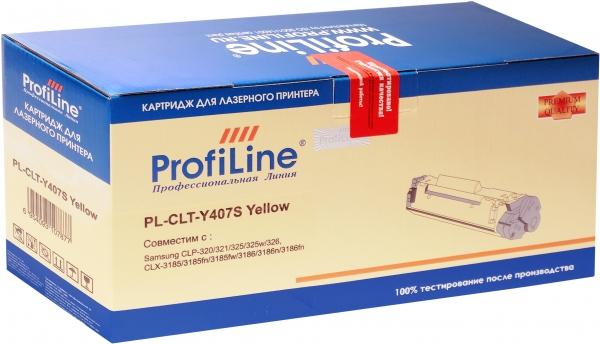 Картридж совместимый ProfiLine CLT-Y407S Yellow для Samsung