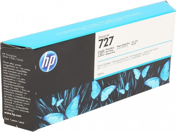 Картридж для HP F9J79A №727 черный фото оригинальный