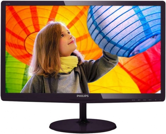 "Монитор 21.5"" Philips 227E6LDSD/00(01) Black-Cherry"