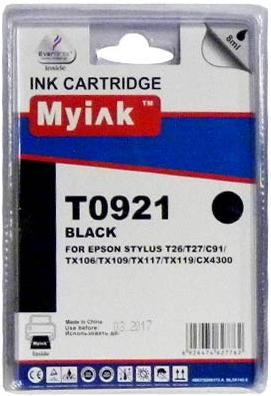 Картридж совместимый MyInk T0921 черный для Epson