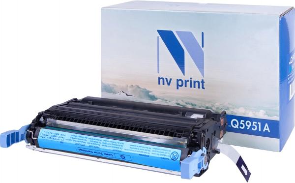 Картридж совместимый NVP Q5951A голубой для HP