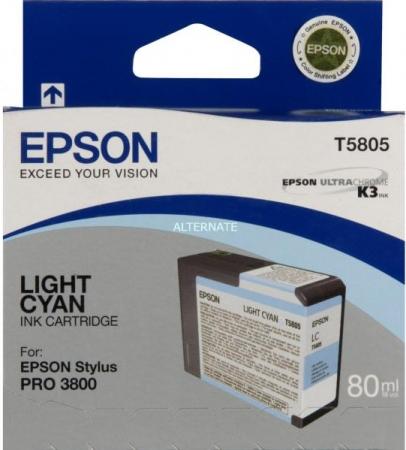 Картридж Epson T5805 (C13T580500) светло-голубой оригинальный