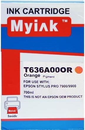 Картридж совместимый MyInk T636A оранжевый для Epson