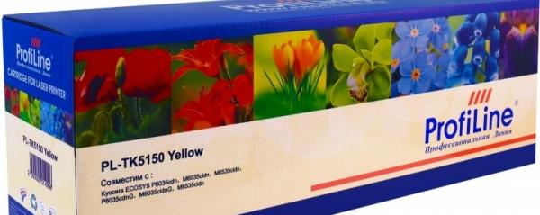 Картридж совместимый ProfiLine TK-5150Y желтый для Kyocera