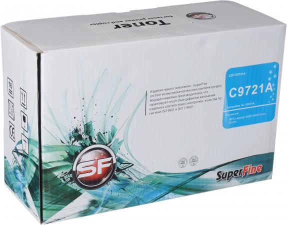Картридж совместимый SuperFine C9721A голубой для HP