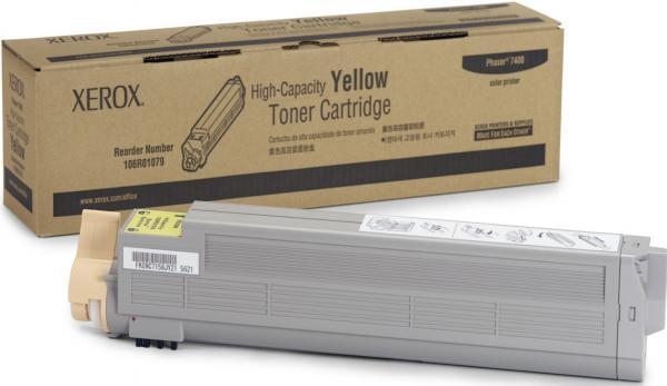 Картридж XEROX Phaser 106R01079 желтый оригинальный