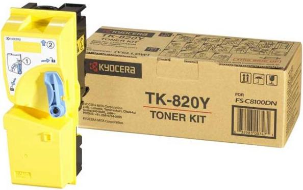 Картридж Kyocera TK-820Y желтый оригинальный