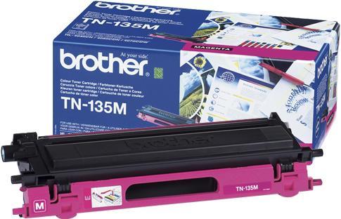 Тонер-картридж BROTHER TN-135M пурпурный оригинальный БЕЗ/КОР