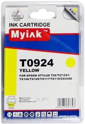 Картридж совместимый MyInk T0924 желтый для Epson