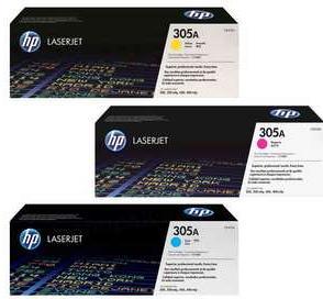 Картридж HP CF371AM тройная упаковка цветной оригинальный