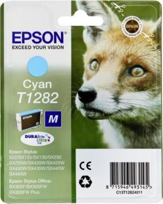 Картридж EPSON C13T12824011 голубой оригинальный