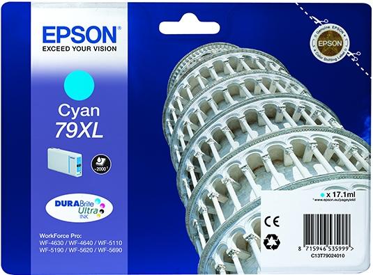 Картридж Epson 79XL (C13T79024010) голубой оригинальный