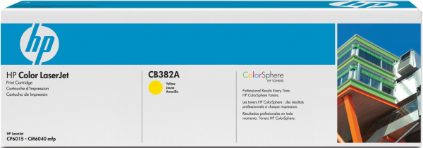 Картридж HP CB382A жёлтый оригинальный