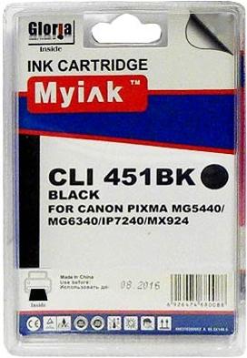 Картридж совместимый MyInk CLI-451XLBK черный для Canon