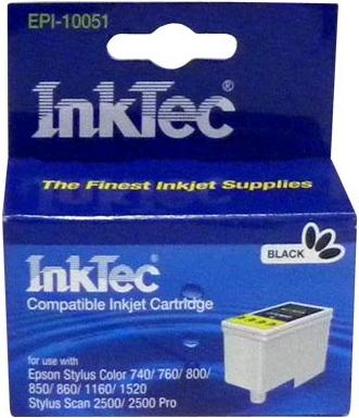 Картридж совместимый InkTec T051 черный для Epson