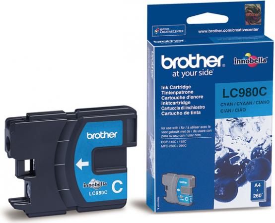 Картридж Brother LC980C голубой оригинальный