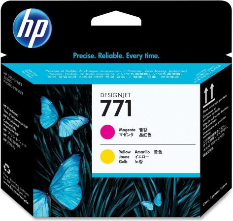 Печатающая головка HP 771 Designjet пурпурный, желтый оригинальный