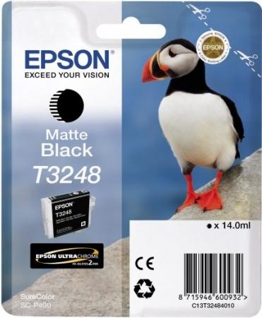 Картридж EPSON T3248 (C13T32484010) матовый черный оригинальный