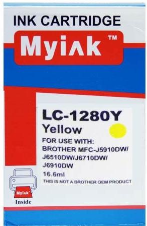 Картридж совместимый MyInk LC1280XLY желтый для Brother
