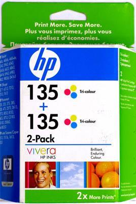 Картриджи HP № 135 трехцветный двойная упаковка оригинал