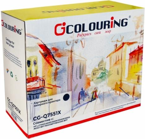 Картридж совместимый Colouring Q7551X для HP