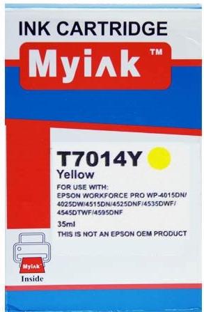 Картридж совместимый MyInk T7014 желтый для Epson