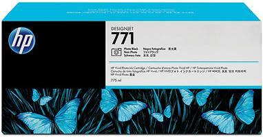 Картридж HP № 771 черный фото оригинальный