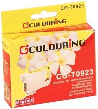 Картридж совместимый Colouring 0923N для Epson пурпурный