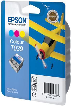 Картридж EPSON T03904A трехцветный оригинальный