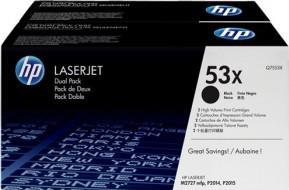 Картридж HP Q7553XD черный двойная упаковка оригинальный