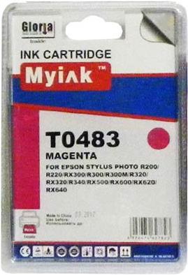 Картридж совместимый MyInk T0483 красный для Epson