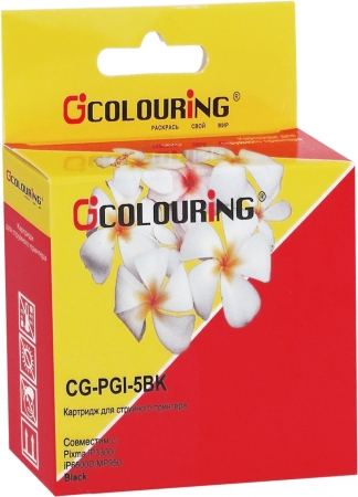 Картридж совместимый Colouring PGI-5BK для Canon с чипом