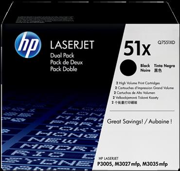 Картридж HP Q7551XD черный оригинальный двойная упаковка