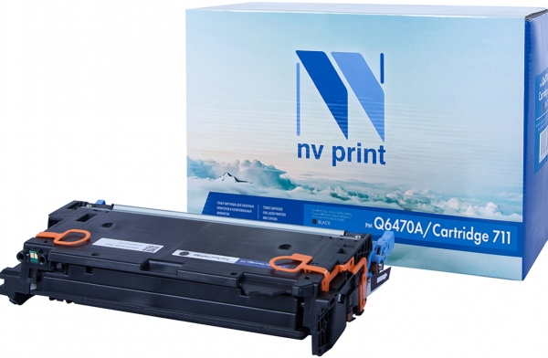 Картридж совместимый NVPrint Q6470A/Canon 711 для HP и Canon черный