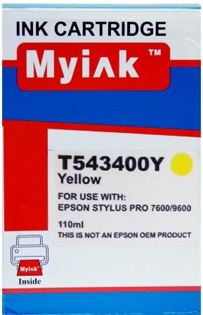Картридж совместимый MyInk T5434 желтый для Epson