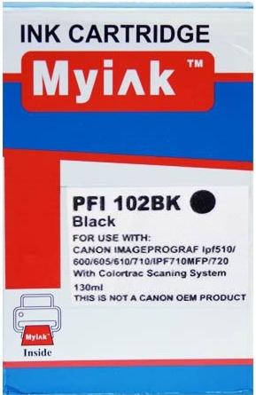 Картридж совместимый MyInk PFI-102Bk черный для CANON