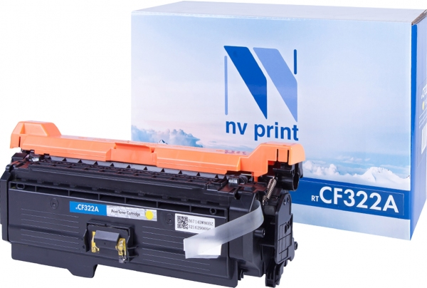 Картридж совместимый NVPrint CF322A для НР желтый