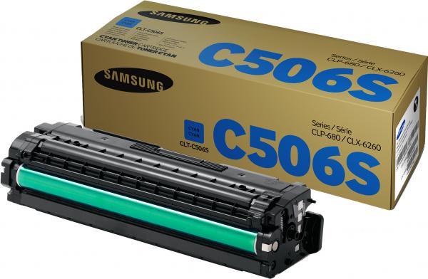Картридж Samsung CLT-C506S голубой оригинальный