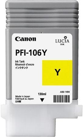 Картридж CANON PFI-106 Y желтый оригинальный