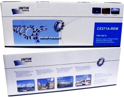 Картридж совместимый UNITON Premium CE271A (650A) голубой для HP