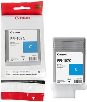 Картридж для плоттера Canon PFI-107 С для iPF680/685/780/785 130ml синий