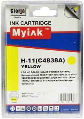 Картридж совместимый MyInk C4838A желтый для HP