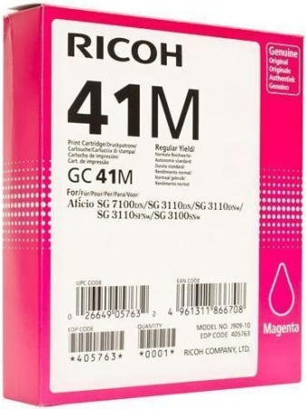 Картридж LE GC41M для Ricoh Aficio пурпурный