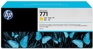 Картридж HP № 771 желтый оригинальный