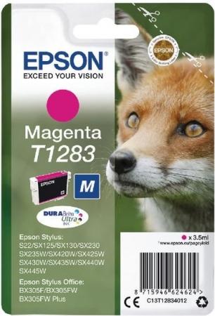 Картридж EPSON T12834012 пурпурный оригинальный