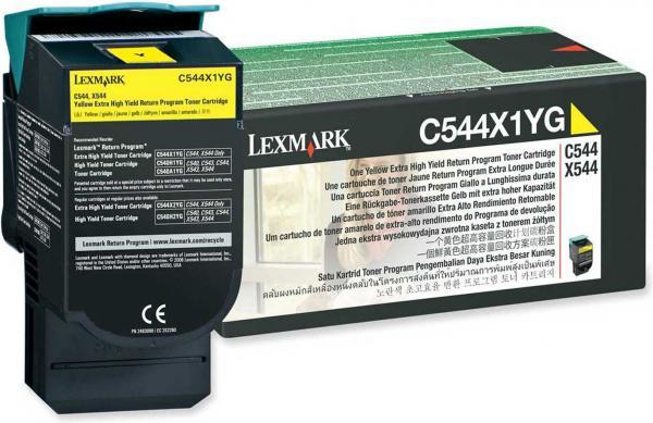 Картридж Lexmark C544X1YG желтый оригинальный