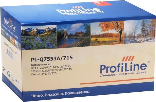 Картридж совместимый ProfiLine Q7553A/715 Black для HP