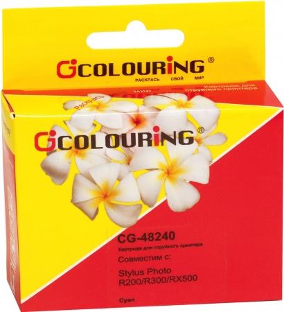 Картридж совместимый Colouring 48240 для Epson голубой