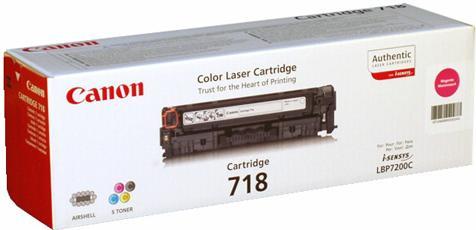 Картридж CANON 718M пурпурный оригинальный