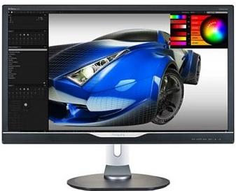 "Монитор 28"" PHILIPS 288P6LJEB/00(01) Silver-Black с поворотом экрана"